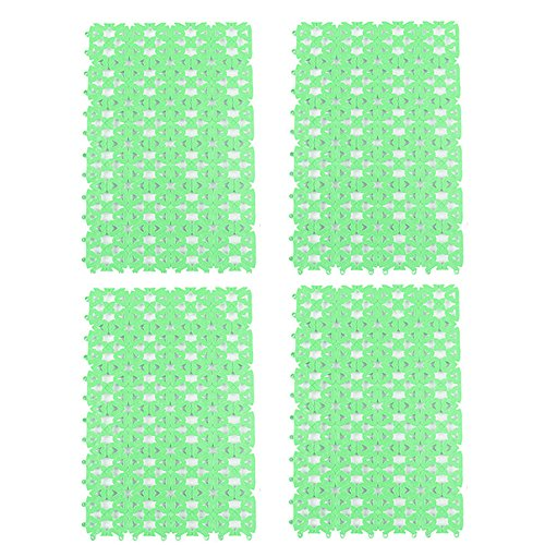 4 Packs Rabbit Cage Mats,Lonni Pet Plastic Spliced Pads Water Leak Pet Feet Holders with Heart Hole for Bunny Rabbits Cat Mouse Hamsters Cage - Hamster Cage Green