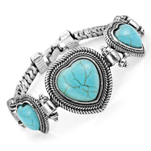 Unique synthetic turquoise Vintage Jewelry Bracelet