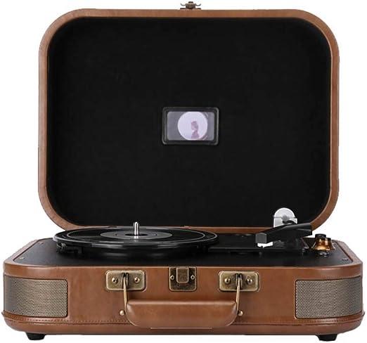 Tocadiscos, Altavoz Bluetooth del disco de vinilo antiguo jugador ...