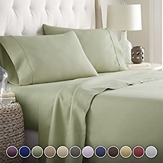 Hotel Luxury Bed Sheets Set-- 1800 Series Platinum Collection-Deep Pocket, Wrinkle & Fade Resistant(King,Sage) (B00LV4WEWG) | Amazon price tracker / tracking, Amazon price history charts, Amazon price watches, Amazon price drop alerts