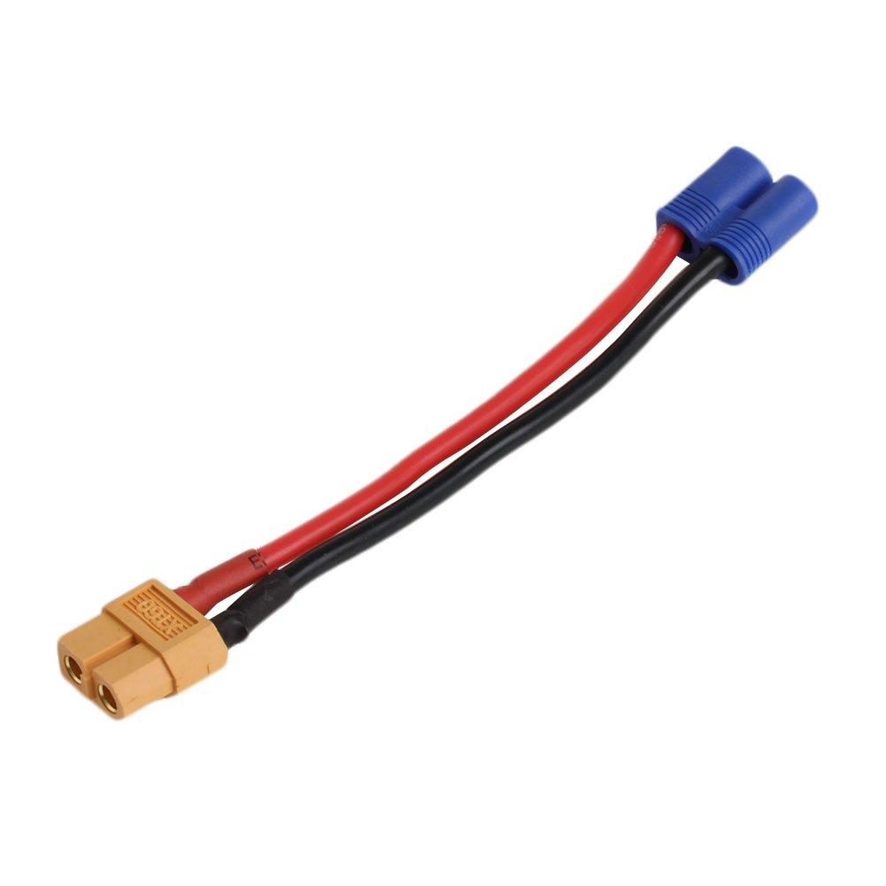 Runrain pour Batterie Lipo RC EC2 connecteur Banana mâ le vers XT60 Prise Femelle Fil Adaptateur