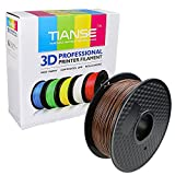 TIANSE Coffee PLA 3D Printer Filament, 1 kg Spool, 1.75 mm, Dimensional Accuracy +/- 0.03 mm