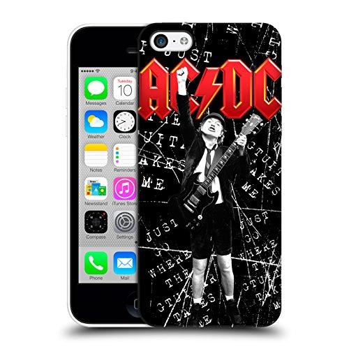 Officiel AC/DC ACDC Angus Young Envoie Un SMS Solo Étui Coque D'Arrière Rigide Pour Apple iPhone 5c