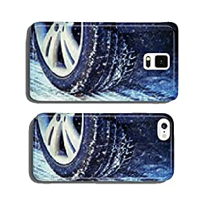 Winter tires on icy roads cell phone cover case iPhone5