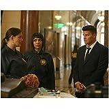 Bones David Boreanaz as Agent Booth and Tamara Taylor as Dr. Camille Saroyan Looking at David Boreanaz as Agent Booth Talking Inside Museum 8 x 10 Photo