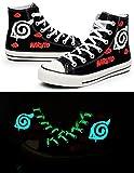 Naruto Anime Naruto Logo Cosplay Shoes Canvas Shoes Sneakers Luminous