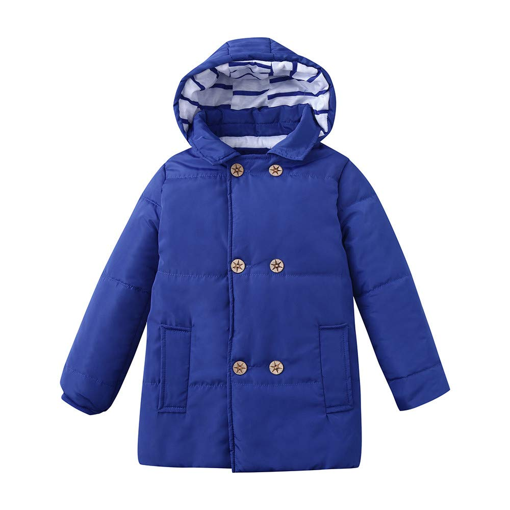TheRang Winter Kid Baby Boy Girl Hooded Jacket Chidren Warm Thick Coat Outerwear Clothes