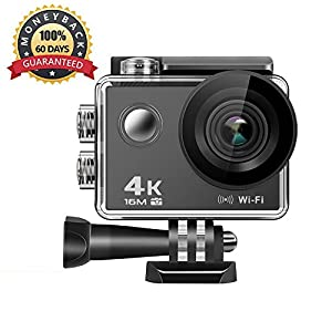4K Action Camera, AM06 16MP WiFi Anti-Shake Waterproof Sports Camera with high-tech Sensor, 170 Degree Ultra Wide Angle 2.0 Inch LCD Screen