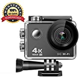 Action Camera 4K, Anmade M3 16MP WiFi Anti-Shake Waterproof Sports Camera with high-tech Sensor, 170 Degree Ultra Wide Angle 2.0 Inch LCD Screen