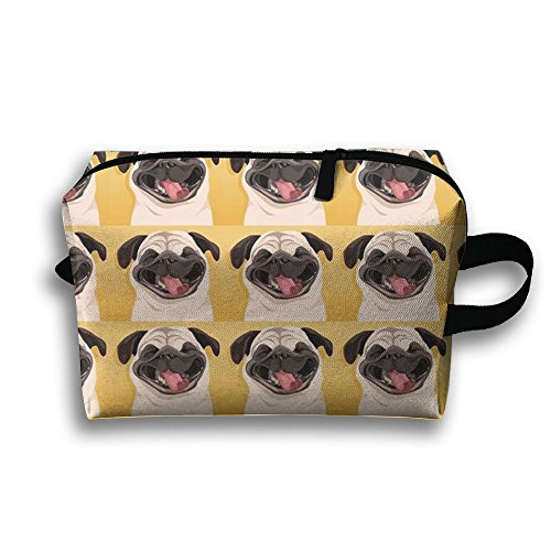 Portable Handy Funny Pug Smile Wallpaper Travel Storage Pouch Comestic Bag Oxford Cloth Kit Packing Organizer For Travel Accessories, - Wallpapers India Sunglasses