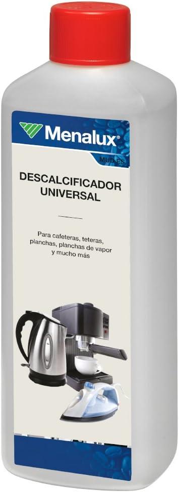 Menalux Mudes Descalcificador universal para todo tipo de cafeteras, planchas, centros de planchado y hervidores de agua, Plástico, Gris