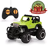 Remote Control Car, HALOFUN Mini RC Cars for Kids, Jeep Vehicle Sport Racing Hobby 1:43 Scale for Boys Girls (Green 1)