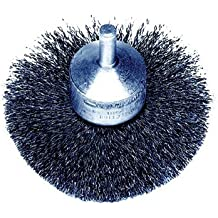 Weiler Steel Cup Brush - Shank Attachment - 3 in Dia - 0.006 in Bristle Dia & 16000 Max RPM - 10150 [PRICE is per BRUSH]