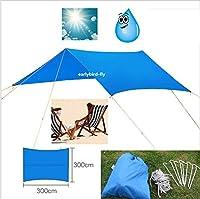 UNAKIM-Outdoor Camping Double Hammock Canopy 10FT x 10FT Rain Tarp Tent Shelter