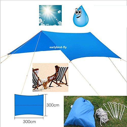 MAZIMARK--Outdoor Camping Double Hammock Canopy 10FT x 10FT Rain Tarp Tent Shelter (Hammock Purpose Shelter)