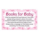 Baby : Books for Baby Request Cards - Girl Baby Shower Invitation Inserts (20 Count)