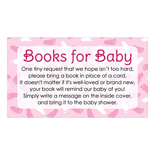 Books for Baby Shower Request Cards - Pink Girl Theme (Set of (Girl Theme)