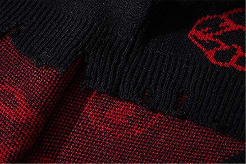Harajuku Strickpullover Męskie Hip Hop Loose Pullover Letter Printed Sweater Streetwear Männlich Winter: Küche & Haushalt