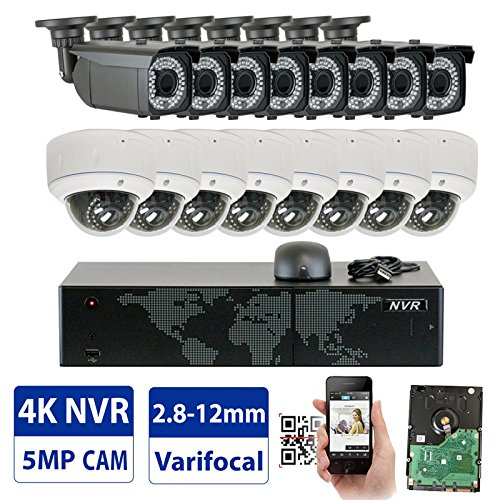 GW 16 Channel 1920P NVR Video Security Camera System - 6 x B