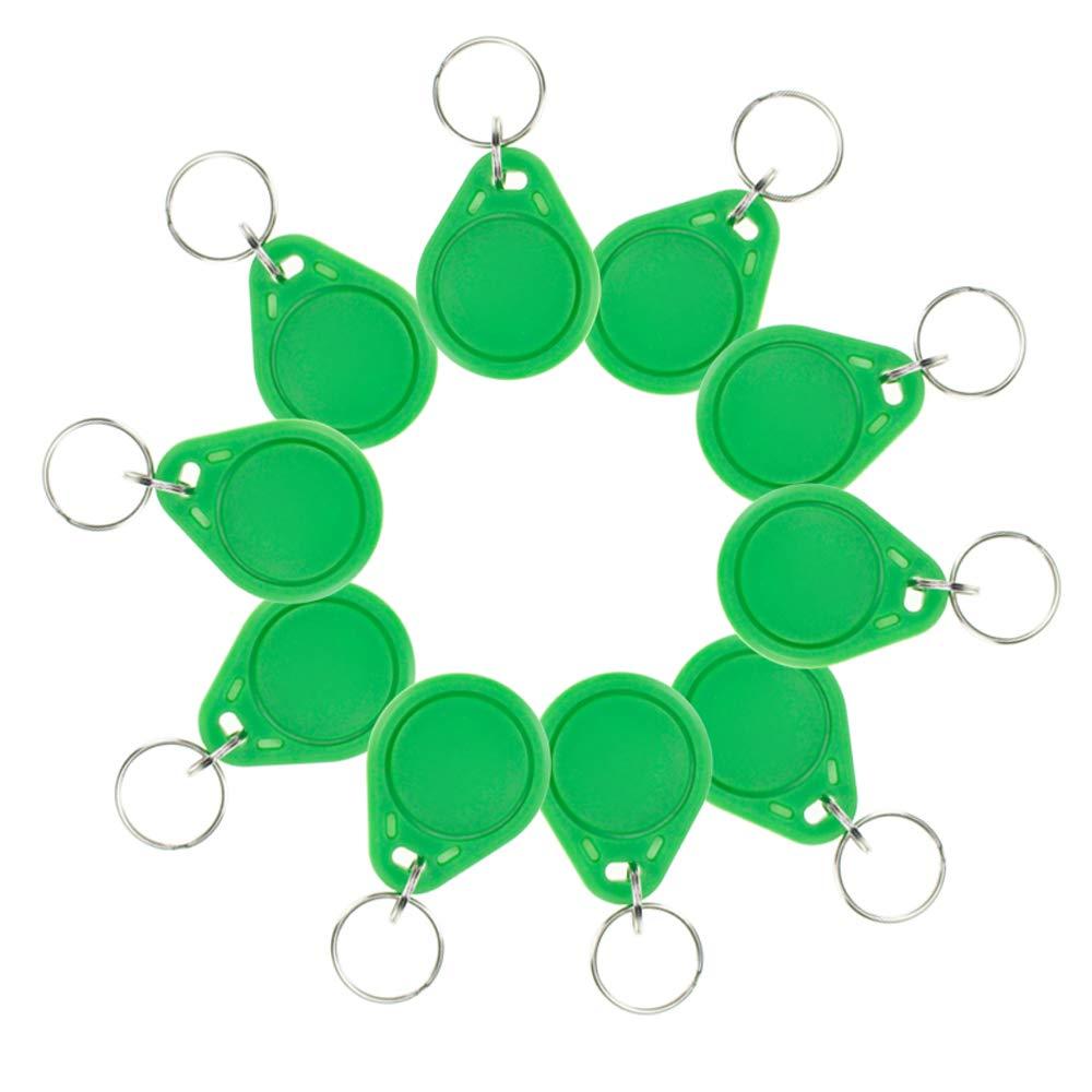 Verde OBO HANDS 100 Unidades Resistente al /Água ABS 13,56MHz ISO14443 A MF Classic 1 K NFC RFID Token Rfid Tag Ilavero RFID