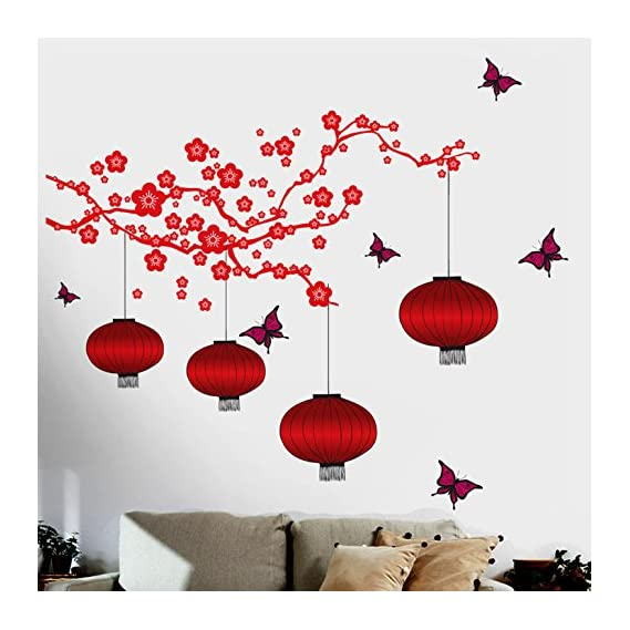 Decals Design 6980 StickersKart Wall Stickers Chinese Lamps in RED Double Sheet (Wall Covering Area: 175cm x 180cm