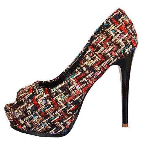 tacco piattaforma color pesce tacco superficiale Match super scarpe color alto nbsp;cm Apricot bocca tacco bocca donna sottili 12 Singles SFSYDDY da fine scarpa singola impermeabile scarpa wO4fTTqA7