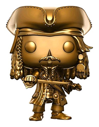 Funko- Pirates of The Caribbean 5-Jack Gold Sparrow Figurina, Multicolor, 13