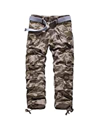 Elonglin Mens Military Combat Pants Cargo Trousers Multipockets
