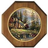Thomas Kinkade Wood Wall Clock, Peaceful Retreat
