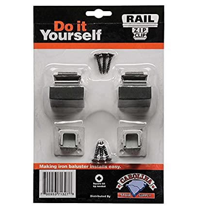 Carolina Stair Supply Baluster Zip Clip, 2 Base Shoes, 1/2 Inch