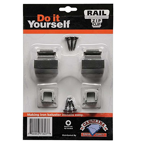 Carolina Clip (Carolina Stair Supply Zip Clip, 2 Base Shoes, 1/2-Inch Opening Opening, Oil Rubbed Bronze)