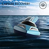 H102 Velocity Remote Control Boat for Pool & Outdoor Use – RC Racing Boat with Remote Control; Force1 High-Speed Series RC Boats for Adults & Kids + Bonus Battery (Limited Edition Blue)