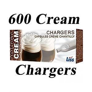 600 x 8 G de óxido nitroso de juego de cargadores de crema batida Liss! PARA SIFÓN N2O