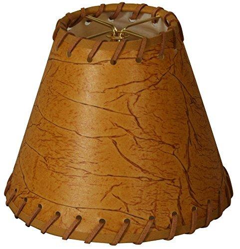 "Royal Designs 6"" Faux 2-Tone Leather Dark Brown Chandelier L"