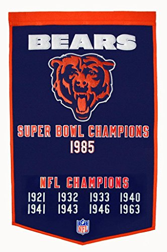 NFL Chicago Bears Wool Dynasty Banner