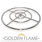 """30"""" Round Fire Pit Burner Ring (304 Series SS)"""