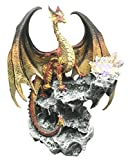 Elemental Hyperion Solar Beam Dragon Guarding LED Light Sun Crystal Cave Statue Figurine