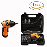 Cordless Electric Screwdriver, Household 4.8V Lithium-Ion Rechargeable Power Screw Guns with Positive Reversing Switch and LED Lighting by Bagvhandbagro