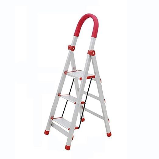 Plegable Plegable Pelda/ño Plegable de Aluminio para Escalera de Plataforma Ligero de Alumi Antideslizante
