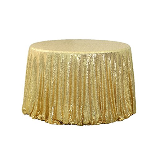 TRLYC 72 Inch Round Sequin Tablecloth for Wedding Party for sale  Delivered anywhere in Canada