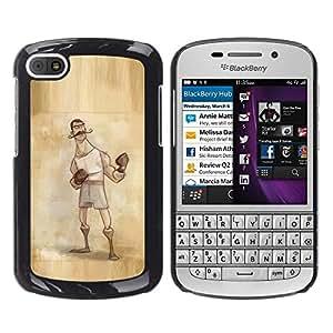 FlareStar Colour Printing Boxer Retro Vintage Manly Man Gloves cáscara Funda Case Caso de plástico para BlackBerry Q10
