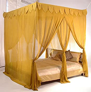 Via Jodhpur Tented Cotton Mosquito Net for Double Bed (Mustard - h210x200x200cm) & Buy Via Jodhpur Tented Cotton Mosquito Net for Double Bed (Mustard ...