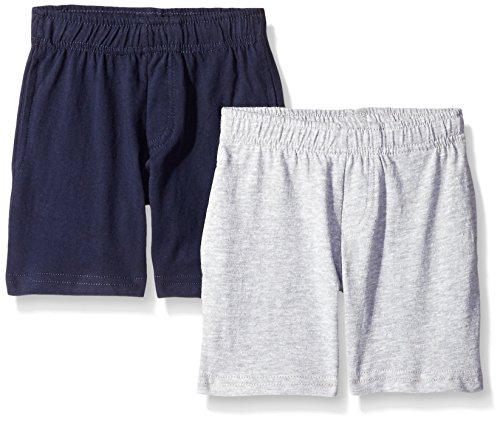 American Hawk Boys 2 Piece Pack Cotton Jersey Shorts,Heather (Boys Jersey Short)