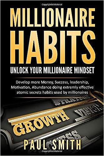 Millionaire Habits: Unlock your millionaire Mindset Money, Success