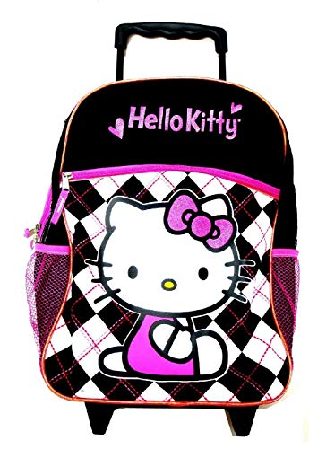 HK Sanrio Hello Kitty Large Rolling Backpack -