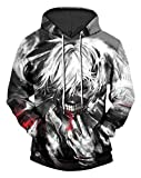 JW 3d Fashion Hoodies Tokyo Ghoul Digital Anime Drawstring Sweatshirts 2018 Harajuku Hip Hop Casual Streetwears Jersey for Hooded Pullovers