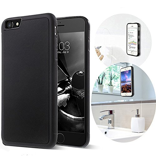 iPhone 7 Case, Anti Gravity Phone Case for Aukoo [black] Magical Nano Can Stick to Glass, Whiteboards, Tile and Smooth Flat Surfaces(4.7-inch)