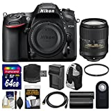 Nikon D7200 Wi-Fi Digital SLR Camera Body with 18-300mm VR Lens + 64GB Card + Backpack + Battery/Charger + Kit