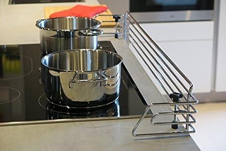Barrera protectora para cocinas 100cm | en cromo pulido | placas de cocción | seguridad niños | de la marca Copa Design | instalación fácil: Amazon.es: Bebé
