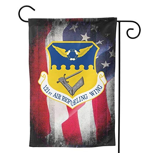 Ellive Air Force 121st Air Refueling Wing 12 X 18 Inch Outdoor Yard Flags, Decorative House Yard Flag, Polyester, Durable